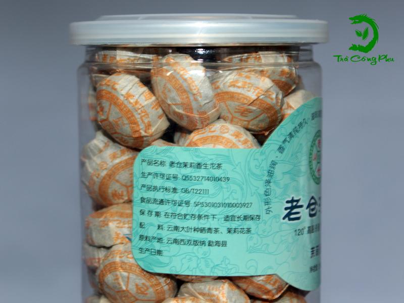 Trà Phổ Nhĩ hộp nhựa Gạo nếp - PNGN550